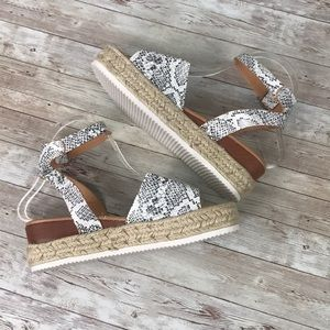 Shoes - Snakeskin Espadrille Sandals